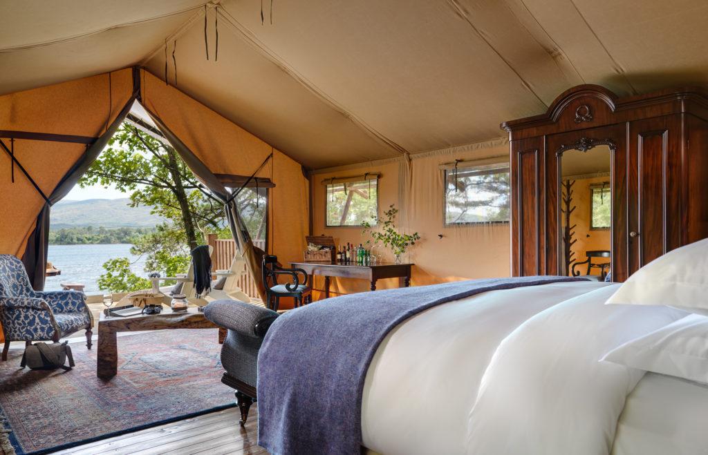 Irish luxury glamping honeymoon at The Hideaway in Dromquinna Manor