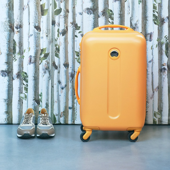 Wedding Gift List a yellow carry on case available at The Wedding Shop.