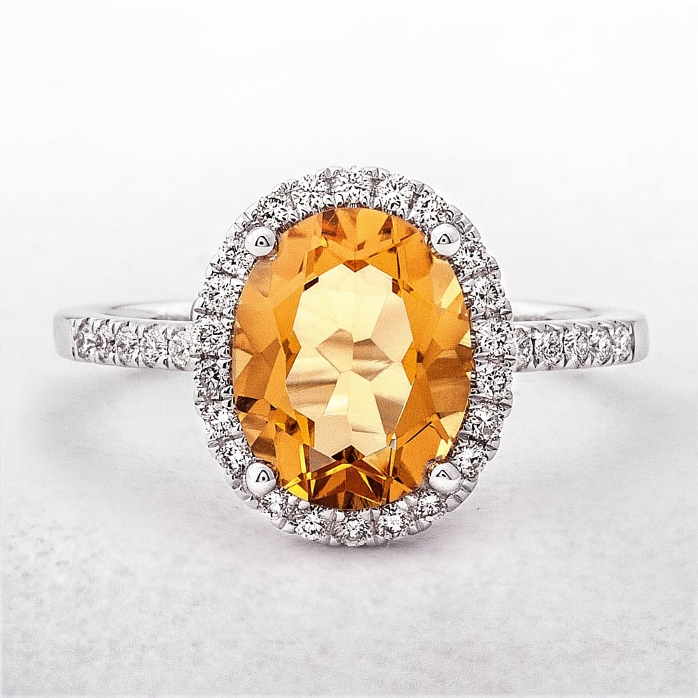 Oval Citrine by Brertons Jewellers